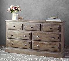 Linden Wood Paneled Extra-Wide Dresser