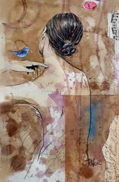 "Saatchi Art Artist Loui Jover; Drawing, ""moments go by"" #art"