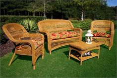 lazy summer, wicker set,