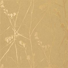 Thibaut Natural Resource - Blossoms - Wallpaper - Khaki