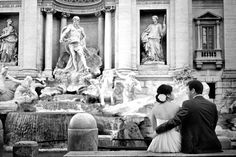 http://bittersweetsposi.com/ Your wedding in Rome in front of Trevi fountain #wedding #Italy #Rome #Trevifountain
