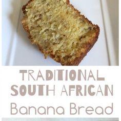 South African Banana Bread A delicious traditional South African recipe for bana South African Desserts, South African Dishes, South African Recipes, Ethnic Recipes, Lemon Meringue Tart, Meringue Pie, Rusk Recipe, Pancake Roll, Pumpkin Fritters