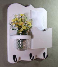 Letter Holder  Key Hooks Jar Vase  Organizer by LegacyStudio, $24.95 karyncooper