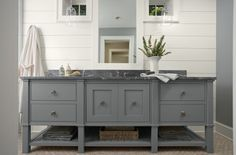Bathroom Vanity color-Benjamin Moore-Adagio I want to re-paint my vanity this color