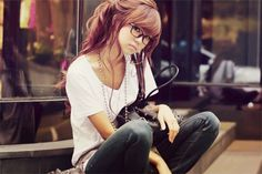 Hipster Seoul chick