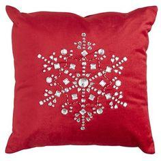 Red Snowflake Pillow - Pier 1