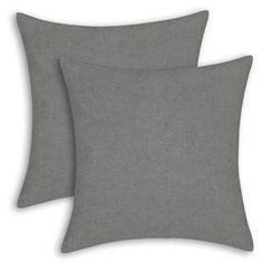 "Amazon.com: Set of 2 Euphoria CaliTime High Class Linen Blend Cushion Covers Pillows Shells Solid Grey Color 18"" X 18"": Home & Kitchen"