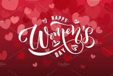 Happy Women's Day Card Template by Alps View Art on @creativemarket