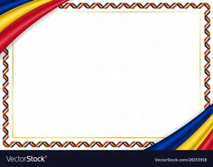 Border made with romania national colors vector image on VectorStock