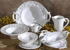 Baroque White Italian Dinnerware