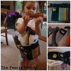 DIY Old Jeans and Place Mat Tool Belt