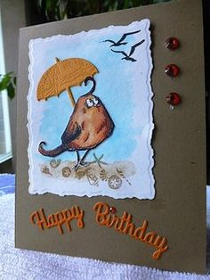 Crazy beach birthday, F4A332 by Carrie3427 - Cards and Paper Crafts at Splitcoaststampers