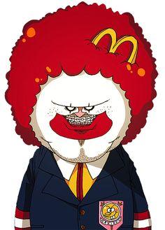 [SakirooSchool] McDonalds student is bad guy like a joker. but he is cute McDonalds Student Fat Cartoon, Cartoon Pics, Cartoon Art, Lion Wallpaper, Art Thou, Skull Art, Mcdonalds, Trippy, Cool Drawings