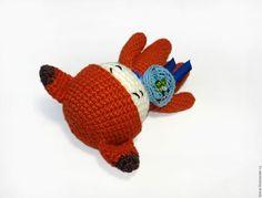 Человечки ручной работы. Вязаная крючком игрушка Рыжий лис. Handmade. crochet toys