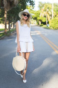 Little Blonde Book by Taylor Morgan | A Life and Style Blog : All White Summer Style
