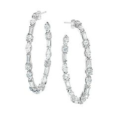 Ivanka Trump Collection Earrings in White Gold with Mixed Cut Diamonds