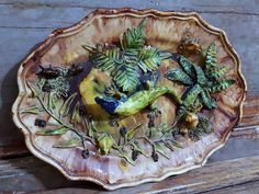 Palissy Majolica Lizard 19 7 in Antique French Rustiques Figulines Dish Pottery | eBay