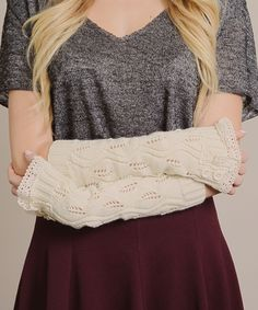Ivory Lace Arm Warmer