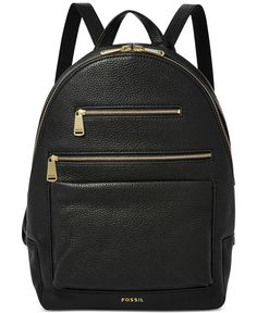 "Embrace a sophisticated take on a classic silhouette with this streamlined leather backpack by Fossil. | Leather | Imported | 10""W x 13-1/2""H x 5-1/2""D 