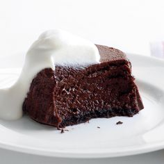 Don't be fooled -- these rich-looking desserts may look like a cheesecake had a baby with a molten chocolate cake, but they're much lower in fat thanks to the nonfat cottage cheese taking the place of cream cheese.