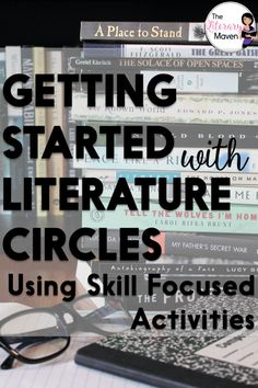 Literature circles are about reading and discussing, but also an opportunity to review and introduce skills through focused writing and activities. Middle School Ela, Middle School English, High School, Grouping Students, English Lesson Plans, Text Evidence, Literature Circles, Language Arts, English Language
