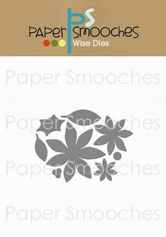 Paper Smooches:  Poinsettia (stand alone dies)