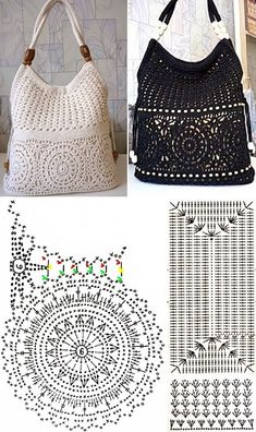 DIY: Inspire in these beautiful 21 crochet pockets # 2 ⋆ From front to toe . - DIY: Inspire in these beautiful 21 crochet pockets # 2 ⋆ From front to toe . Free Crochet Bag, Crochet Pouch, Crochet Bags, Crochet Handbags, Crochet Purses, Purse Patterns, Crochet Patterns, Crochet Diagram, Diy Crafts Crochet