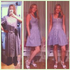Got this old dress from my grandmother and turned it in to this...    #redesign