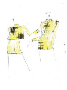 Amazing sketches of the Walker Jacket from Spencer clothing. Summer Jacket, Tartan, Sketches, Spring Summer, Amazing, Clothing, Jackets, Drawings, Outfits