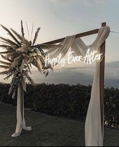 wedding arch with neon sign Wedding Wishes, Wedding Signs, Wedding Ceremony, Our Wedding, Wedding Venues, Dream Wedding, Destination Wedding, Wedding Blog, Engagement Party Signs