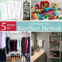 Storage and Organization ~ Tired of drowning in cluttering in your home? Follow these five tips for using the KomMari Method and say goodbye to clutter for good!