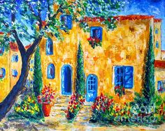 Provence toujours - Original Painting by C Stefan (ArtStudio29). Original Sold. Prints and Greeting Cards available.