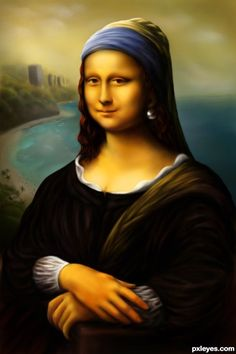 Mona Lisa with a Pearl earring - created by langstrum