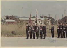An RLI Colour party. 2 subalterns carry the colours escorted by 3 sergeants under the command of a warrant officer. Warrant Officer, Troops, South Africa, Military, Colours, Concert, Party, Recital, Concerts