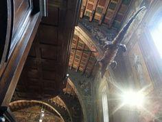 The croc in the church. Yes, that's true. Santuario Ponte Nossa (BG), Italy.