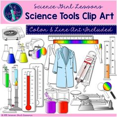 This delightful set of science tools will add beauty and value to your science products. Included are 155 images of common items found in a science lab. ($) #science #TpT #teacherspayteachers #clipart #tools: