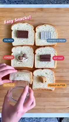 Easy Baking Recipes, Sweets Recipes, Cooking Recipes, Cute Desserts, Easy Snacks, Diy Food, Yummy Food, Hacks, Foods