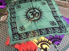 Om Symbol 18-inch Altar Cloth Scarf by OpalMoonTreasures on Etsy