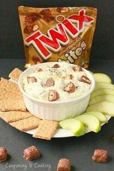Cake Batter Twix Bites Dessert Dip- only 3 ingredients!