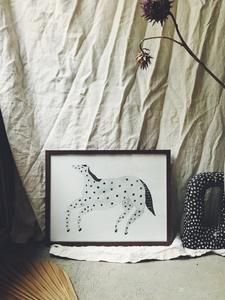 dotted horse 30X40 – schulverket Illustrators, Tapestry, Horses, Paper, Prints, Kids, Inspiration, Art, Hanging Tapestry