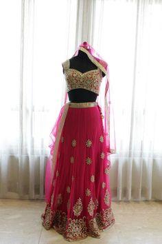 Majenta color bridal lehenga choli – Panache Haute Couture http://panachehautecouture.co.in/collections/lehenga-choli-online-shopping/products/majenta-color-lehenga-choli-giving-stunning-look