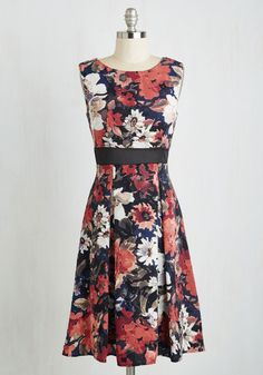 Cast Party Chic Dress. To elebrate your starring you've donned this fabulous floral midi! #multi #modcloth