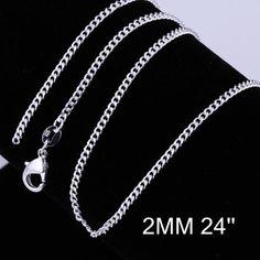 wholesale-Men-Women-Jewelry-925SILVER-Bracelet-Bangle-Necklace-Ring-Earring-Set