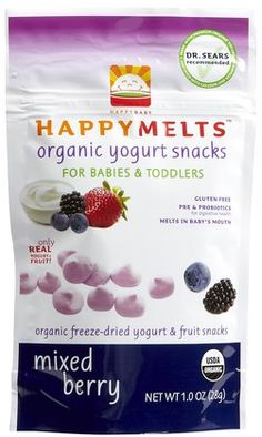 love these organic snacks-great source of probiotics and if they're good enough for babies they're good for me~!