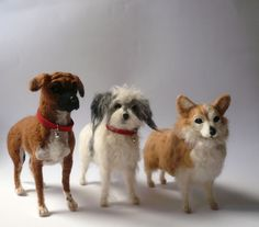 Needlefelted dog miniatures