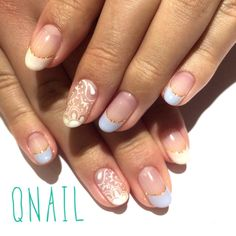 ペイズリーフレンチネイル #nail#like#QNAIL#favorite#恵比寿#代官山