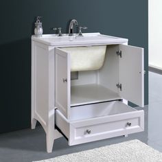 Beautiful Laundry Sink and Cabinet Combo