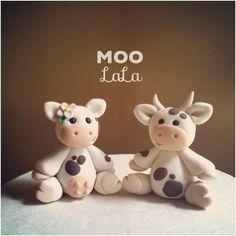 Moo La La Cow Custom Wedding Cake Topper by derekwoolever on Etsy, $60.00