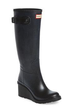 Hunter WEDGE rain boots!
