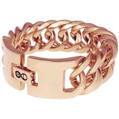 B Steel armband uitgevoerd met hoogwaardig rosé verguld edelstaal.    http://www.lookinggoodtoday.com/sieraden/armbanden